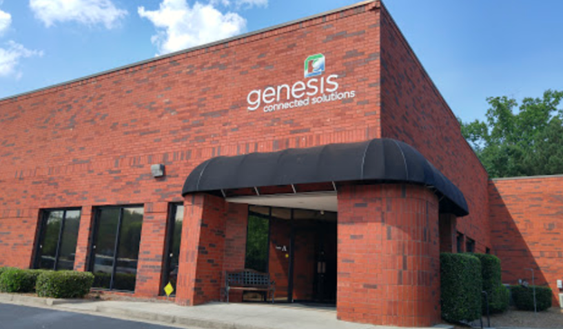 Genesis office building, front view
